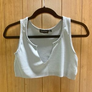 Pretty Little Thing Light Gray Crop Top